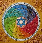 Featured Reliefs Originals - Jewish Mandala by Isaac Khadya