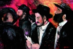 Jewish Paintings - Jewish Prayers by Viera Szabo