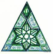 Design Drawings Prints - Jewish Star Print by Judith Herbert