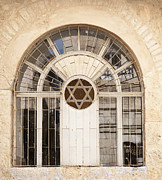 Star Of David Photos - Jewish Window with the Star of David by Noam Armonn