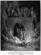 Shadrach Framed Prints - Jews In Fiery Furnace Framed Print by Granger