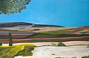 Israel Painting Originals - Jezreel Valley Israel by Avi Lehrer