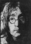 Fab Four  Drawings - Jhon Lennon by Robert Clement