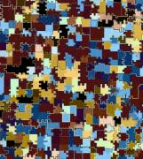 Fitted Prints - Jigsaw Abstract Print by Will Borden