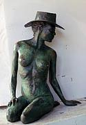 Cowgirl Sculpture Originals - Jillaroo nude by Wayne Strickland