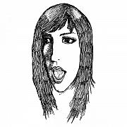 Face Drawings - Jillian by Karl Addison