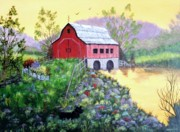 Scottie Paintings - Jills Barn by Jamie Frier