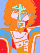 Jim Morrison Prints - Jim Abstract Pop Art Print by C Baum
