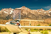 Mccrea Prints - Jim Archer and Kestrel Sailplane Lone Pine California Print by Gus McCrea