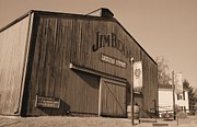 Sour Metal Prints - Jim Beam Distillery Sepia Metal Print by Lynnette Johns