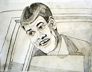 Award Drawings Prints - Jim Carrey as Lloyd Christmas in Dumb and Dumber Print by Donald William