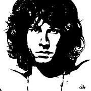 Jim Morrison Prints - Jim Print by Christine Luksis