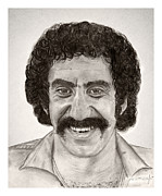 Expensive Drawings Framed Prints - Jim Croce Framed Print by Mark Mac