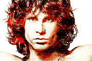 Jim Morrison Digital Art Posters - Jim Poster by Juan Jose Espinoza