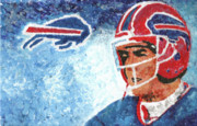 Buffalo Bills Prints - Jim Kelly Print by Wj Bowers