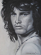 Jim Morrison Drawings Prints - Jim Morrison - Notes Print by Eric Dee