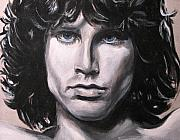Celebrity Portraits Framed Prints - Jim Morrison - The Doors Framed Print by Eric Dee