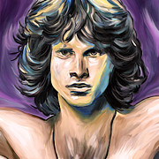 Jim Morrison Digital Art Prints - Jim Morrison Print by Amarok A