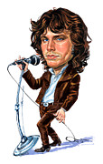 Jim Morrison Paintings - Jim Morrison by Art