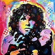 Acoustic Guitar Mixed Media - Jim Morrison by Dean Russo