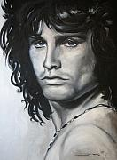 Jim Morrison Framed Prints - Jim Morrison Framed Print by Eric Dee