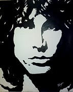 Lead Singer Drawings - Jim Morrison by Florijan Zegarac