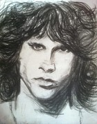 Rock N Roll Drawings Originals - Jim Morrison  by Gerald Hubert