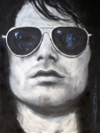 Portrait Drawings Framed Prints - Jim Morrison III Framed Print by Eric Dee