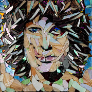 Mitch Brookman Glass Art - Jim Morrison by Mitch Brookman