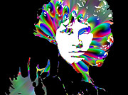 Jim Morrison Prints - Jim Morrison Print by Paul Howarth