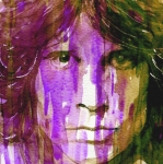 Icon Metal Prints - Jim Morrison Metal Print by Paul Lovering