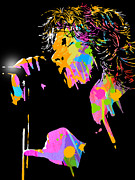 Singer  Paintings - Jim Morrison by Paul Sachtleben