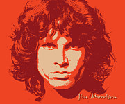 Pop Icon Posters - Jim Morrison - Pop Art Portrait Poster by Martin Deane