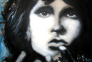 Lizard King Prints - Jim Morrison Ravens Claws   Print by Jon Baldwin  Art