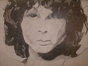 Jim Morrison Drawings Prints - Jim Morrison Print by Samantha L