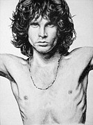 Jim Morrison Drawings Prints - Jim Morrison Print by Sarah Stonehouse