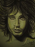 Jim Morrison Pastels Prints - Jim Morrison Print by Terrence ONeal