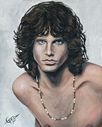 Legend Painting Originals - Jim Morrison by Tom Carlton
