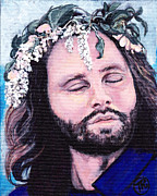Royal Gamut Art Painting Prints - Jim Morrison Print by Tom Roderick