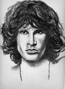 Jim Morrison Drawings Prints - Jim Morrison Print by Wendy Marelli