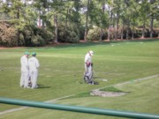 Augusta Photo Posters - Jimenez practicing Poster by David Bearden