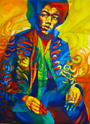 Jimi Hendrix Drawings - Jimi 27 by Steve Hunter