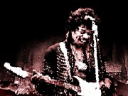 Stratocaster Posters - Jimi  Poster by Andrea Barbieri