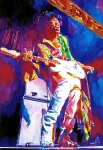 Fender Stratocaster Posters - Jimi Hendrix - THE ULTIMATE Poster by David Lloyd Glover