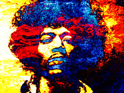Rock Art Digital Art - Jimi Hendrix 3 by Juan Jose Espinoza