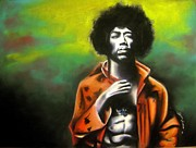Beatles Pastels Originals - Jimi Hendrix by Adrian Villegas