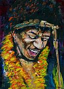 Guitars Painting Framed Prints - Jimi Hendrix Framed Print by Frances Marino