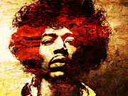 Rock Art Digital Art - Jimi Hendrix by Juan Jose Espinoza