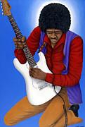 Jimi Hendrix  Print by Larry Smart
