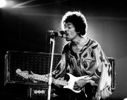 Jimi Hendrix Photos - Jimi Hendrix Live Halo by Chris Walter
